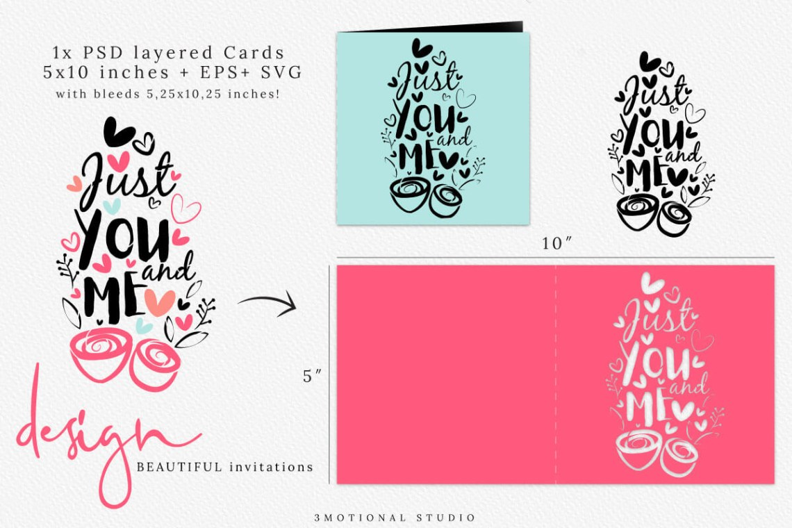 Download Valentine's Day Photo Card Template, Love Calligraphy SVG ...