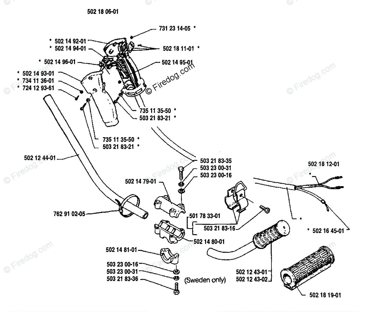 Husqvarna Line Trimmer 125 R 01 Oem Parts Diagram