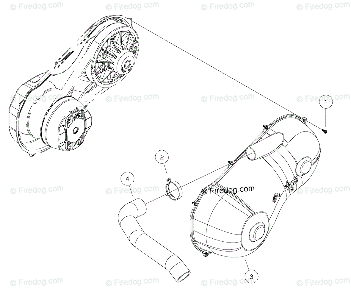 Husqvarna Utility Vehicle Huv Dxp Oem Parts Diagram For Clutch Cover Standard