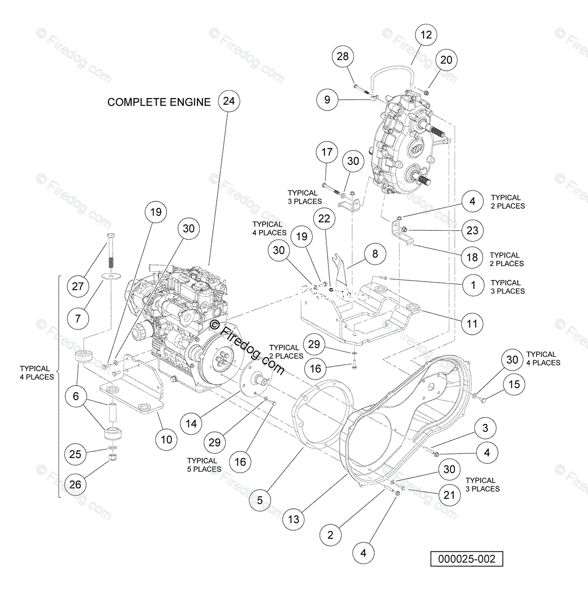 Kubotasel Engine Parts Manual D722