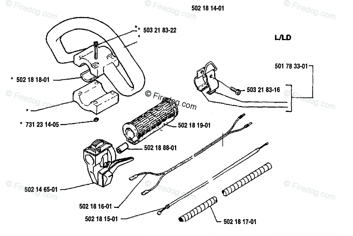 Husqvarna Line Trimmer 125 Rd 01 Oem Parts Diagram For Grip Assembly