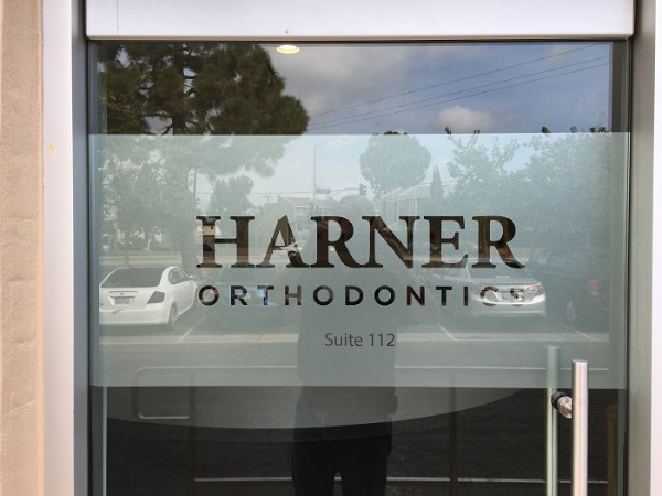 Etched Vinyl Window Graphics Dental Offices Orange County CA
