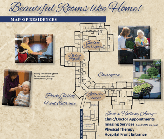 Saunders Medical Center   Nursing Home   Learn More    Map of Our Rooms Nursing Home Map