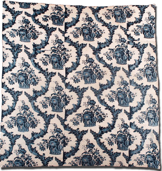 Whole Cloth - Blue Resist, Maker unknown, Probably made in Eastern United States, Circa 1790-1830, IQSC 1997.007.0914