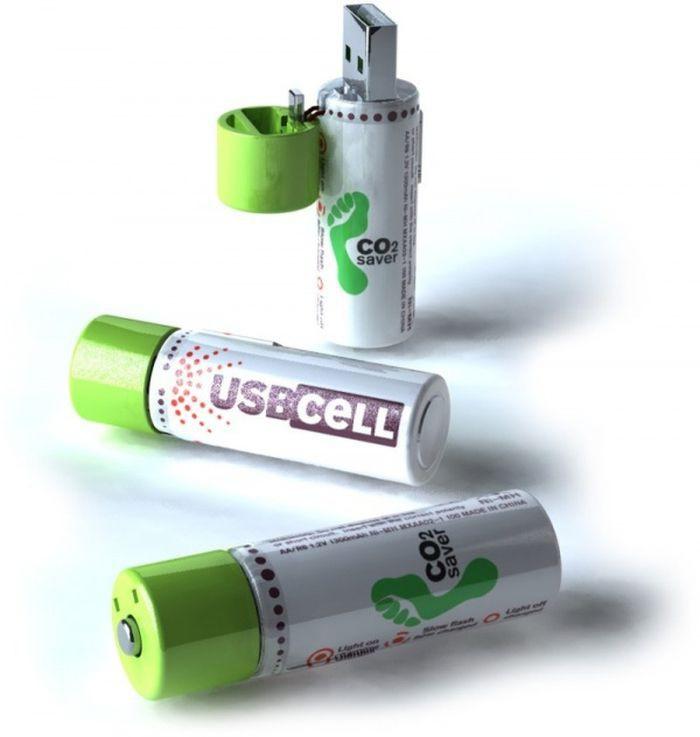 Батарейки, заряжающиеся через USB-разъем дизайн, идея, креатив