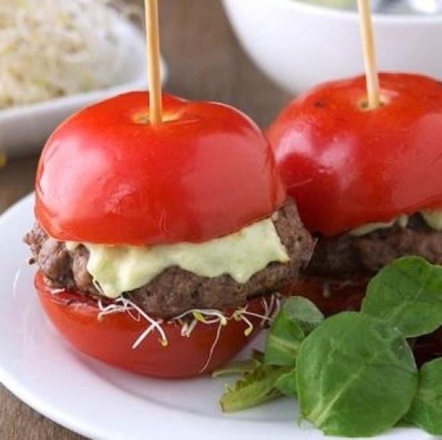 10. Бургер из помидоров еда, своими руками, сделай сам