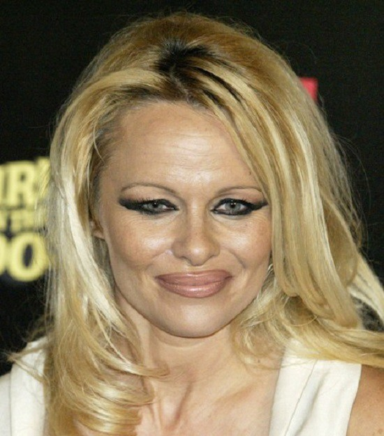 Памела Андерсон грим, звезды, знаменитости, косметика, красота, макияж