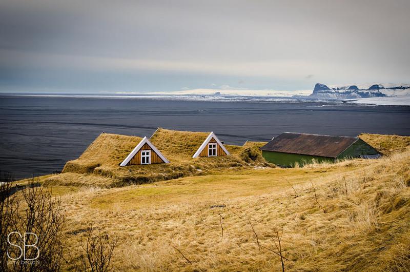 Национальный парк Скафтафедль, Исландия  дом, крыша, озеленение, скандинавия