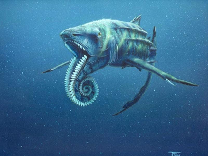 Геликоприон животные, море, ужас
