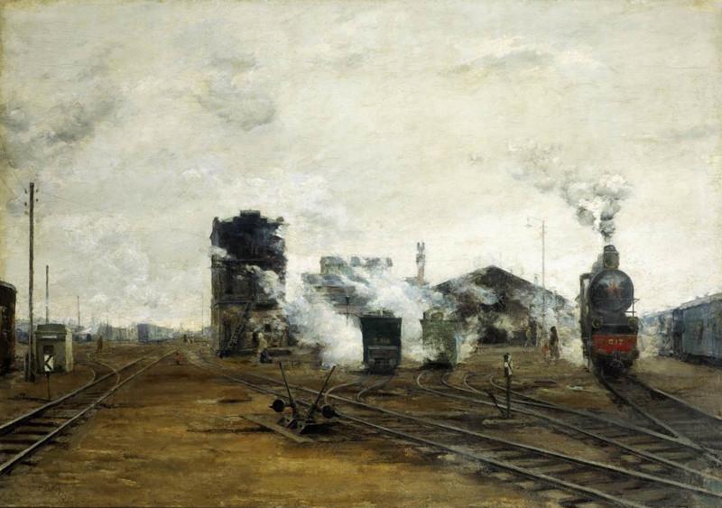 Железнодорожная живопись железная дорога, живопись, окраины, пейзаж, эстетика