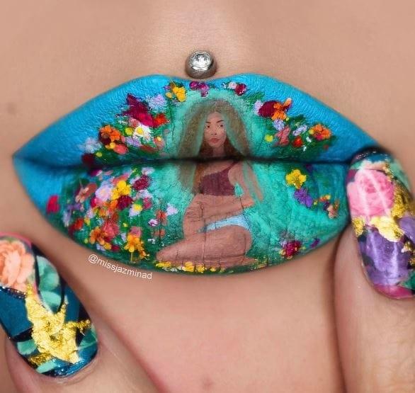 Бейонсе может гордиться! губы, искусство, макияж
