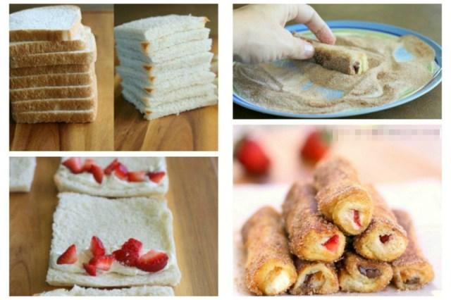 А сладкие завтраки? Вкусно... В хлеб клубнику (любые фрукты), обвалять в яйце и в сухариках с сахаром, обжарить Просто, вкусно, еда, завтраки