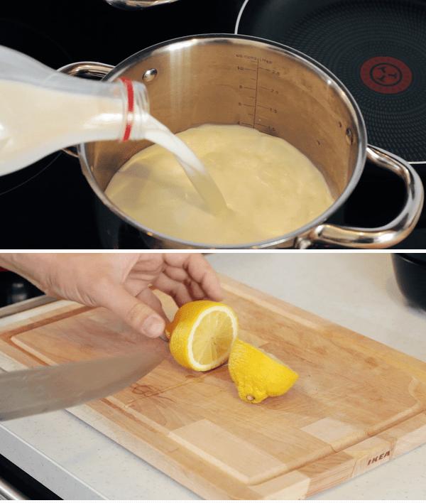 Домашний сыр за 10 минут и 1 час из магазинного молока Лайфхак, домашний сыр, закусончик, кулинария, рецепты