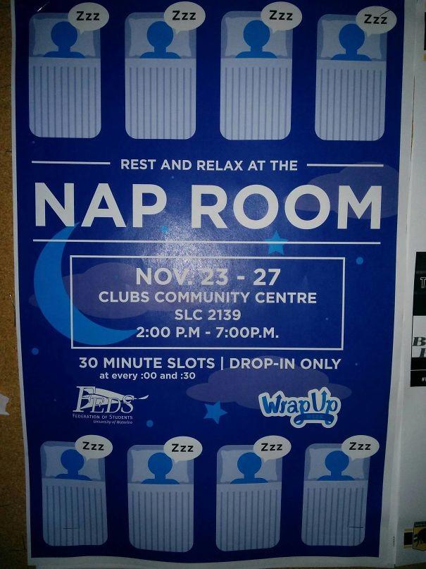 Комната отдыха в школе – можно поспать 30 минут в свободное время посреди учебного дня гениально, изобретения, подборка, студенты, школа