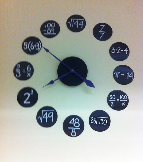 Часы для настоящих математиков гениально, изобретения, подборка, студенты, школа