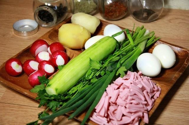 Ингредиенты окрошка, рецепты, рецепты блюд