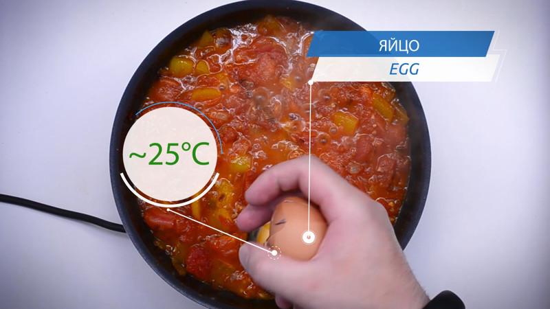 значит пришло время для добавления яиц (температура яиц должна быть комнатной) кулинария, рецепт, шакшука, яичница