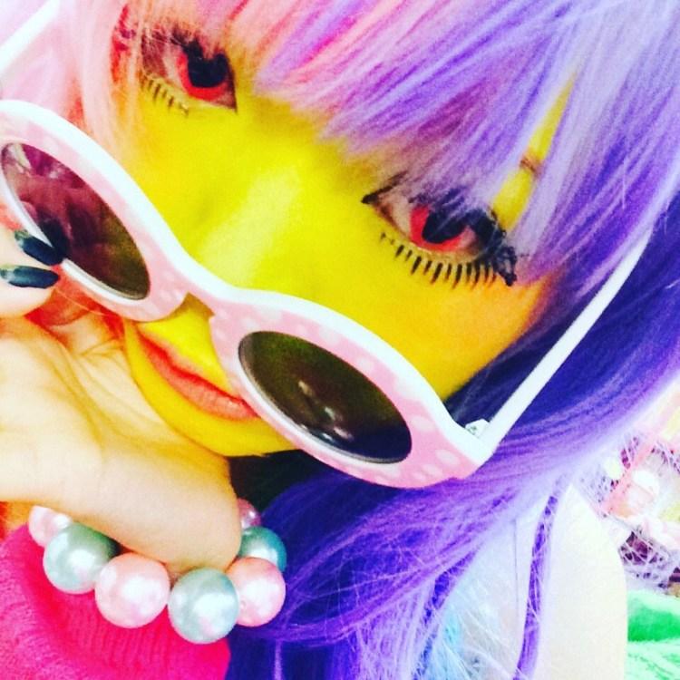 Новый тренд японского косплея - окрашивание кожи в яркие цвета trend, идея, косплей, краска, мир, персонаж, тело, япония