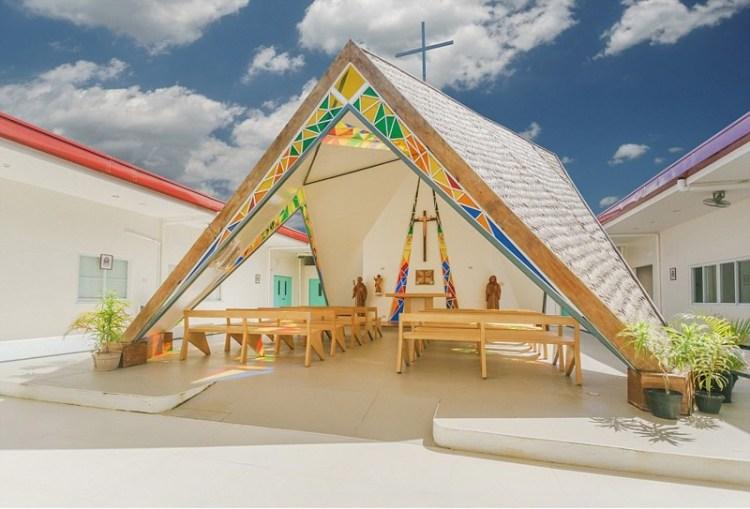 Часовня святого Бенедикта и святой схоластики, Памбучжан, Филиппины архитектура, дома, здания будущего, красота, необычно, проекты, строения, творчество