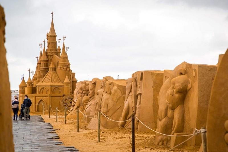 Фестиваль песчаных скульптуp в Бельгии песок, песчанные скульптуры, пляж, факты