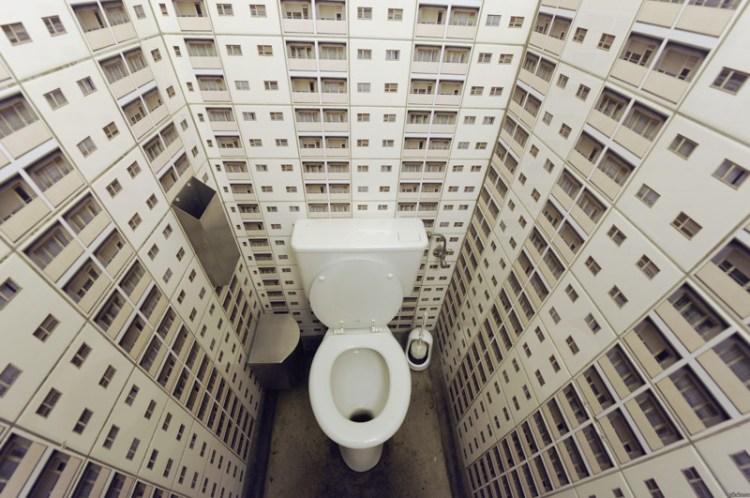 Для тех, кто любит справлять нужду во дворах и подворотнях дизайн, прикол, санузел, туалет, унитаз