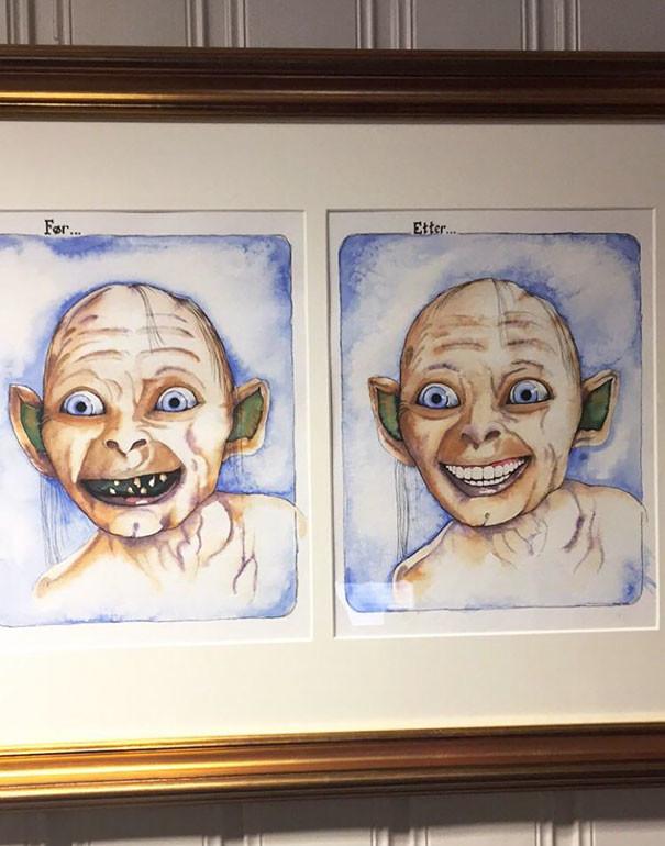 До и после: творчество у стоматологического кабинета  врачи, дантисты, забавно, зубной врач, приколы, стоматологи, фото, юмор