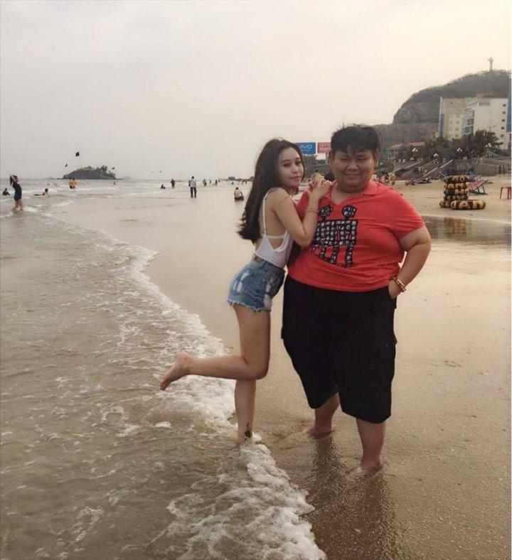 Когда Лин Май Нгуен поделилась в сети снимками со своим возлюбленным, ей стали писать оскорбительные комментарии влюбленные, критика, ответ, пара, реакция, соцсеть, фотография