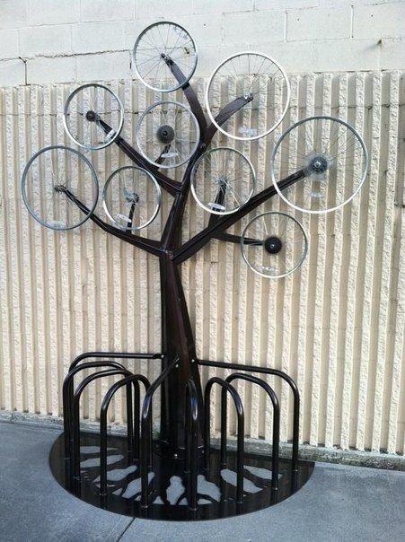 16. Из них получаются крутые арт-объекты велосипед, интересно, колесо, очумелые ручки, своими руками, фото