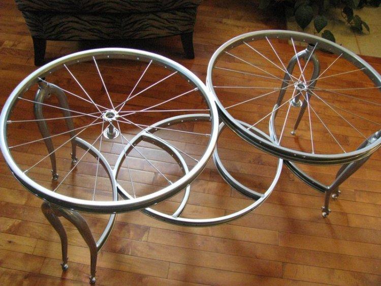 5. Или в столешницу. Ее можно, кстати, сделать стеклянной велосипед, интересно, колесо, очумелые ручки, своими руками, фото