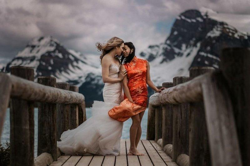 Ледниковое озеро Боу, Канада. Любовь, отношения, свадебное фото, свадьба, фото, фотограф, фотография