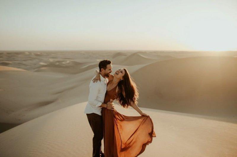 Песчаные дюны Imperial Sand Dunes, Калифорния, США. Любовь, отношения, свадебное фото, свадьба, фото, фотограф, фотография