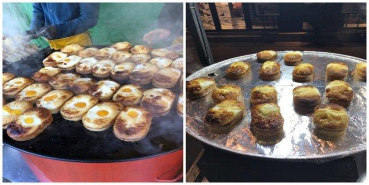 3. Хлеб с яйцом: $1,50 еда, еда быстро, сеул, уличная Еда, уличная еда, фастфуд, южная корея