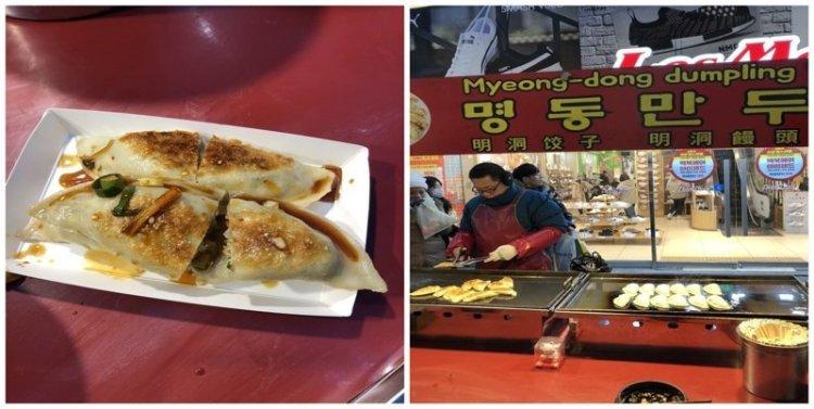 6. Дамплинги в торговом квартале Мёндон: 3 шт за $4 еда, еда быстро, сеул, уличная Еда, уличная еда, фастфуд, южная корея