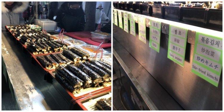 15. Ассорти из роллов: 5 шт за $6 еда, еда быстро, сеул, уличная Еда, уличная еда, фастфуд, южная корея