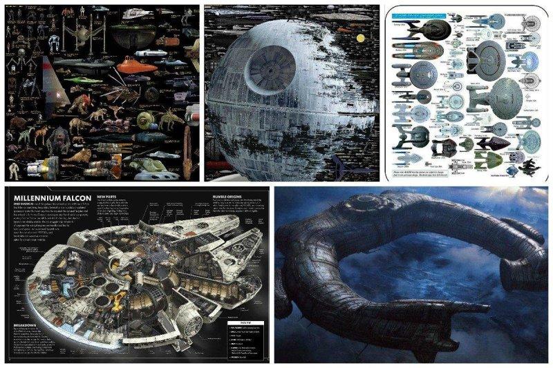 Звездный флот во всей красе star trek, вавилон, звездные войны, звездные корабли. космос, интересное, сравнение, фото