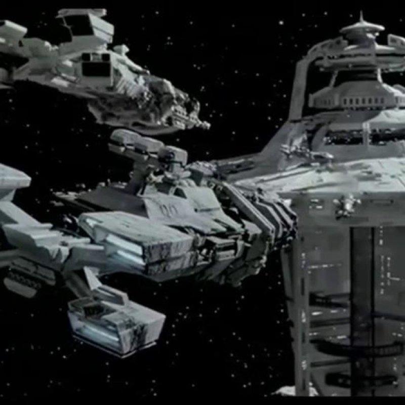 """Тикондерога из """"Звездного десанта"""" star trek, вавилон, звездные войны, звездные корабли. космос, интересное, сравнение, фото"""