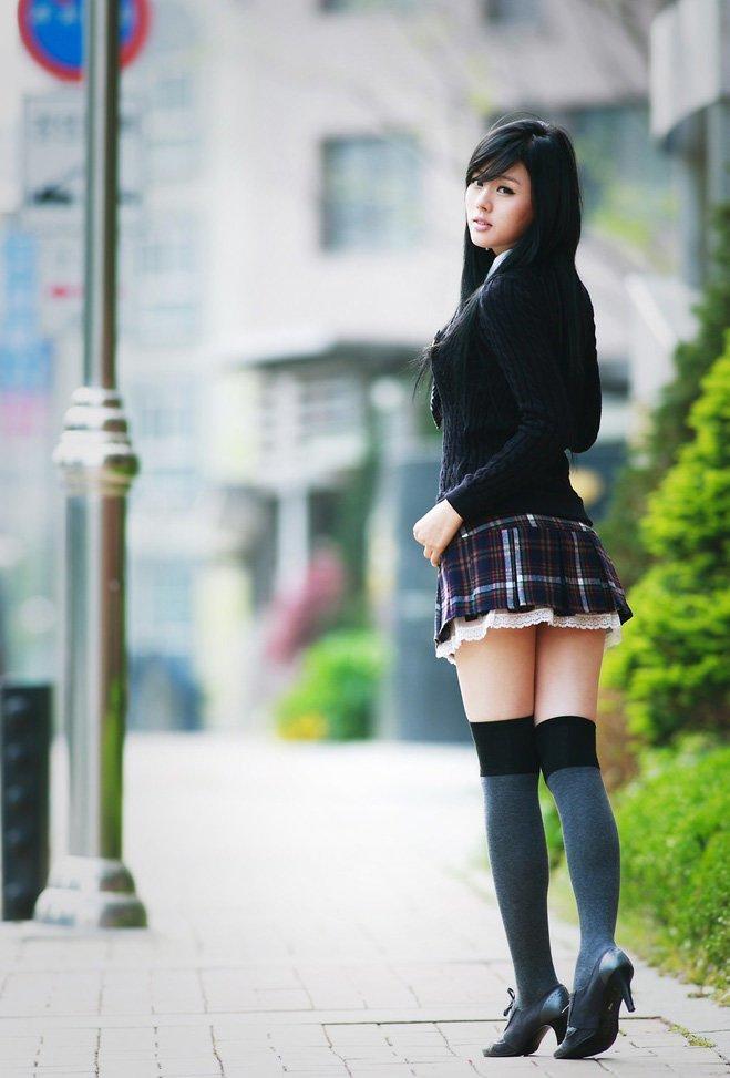 Почему они любят school-style? mini, азиатки, азиатки в юбках, девушки, китаянки, кореянки, японки