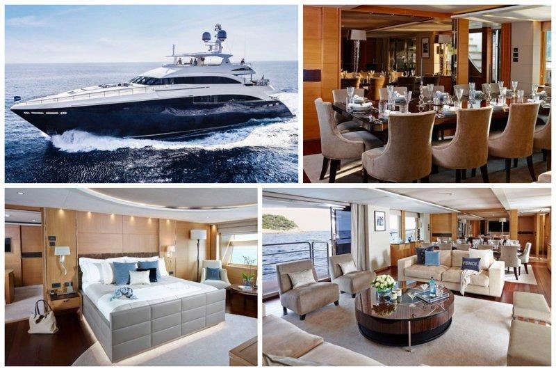 Плывем на яхте. Princess SOLARIS длинной 40 м., с интерьером от Fendi, построенная в 2014 верфью Princess Yachts International  £13,200,000 Так просто, девчонок покатать богато, вещи, дорого, миллиардеры, покупки