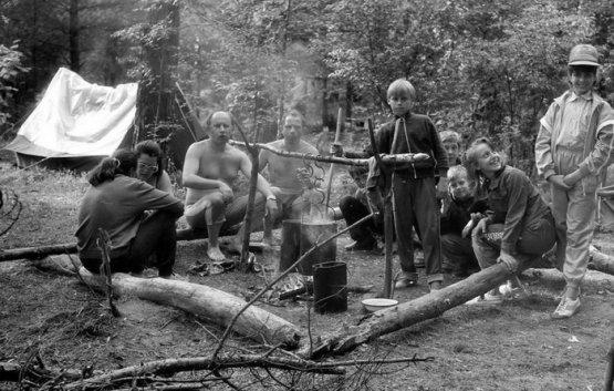 Советская семья в походе СССР, история, фотографии