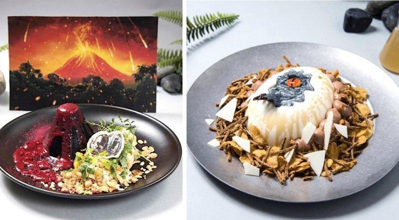 """Слишком красиво, чтобы есть: в Японии открылся ресторан """"Мир Юрского периода"""" блюда, еда, кафе, кино, креатив, мир юрского периода, ресторан, япония"""