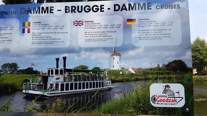 Из Брюгге в Дамме на колесном катере Lamme Goedzak Бельгия, брюгге, катер