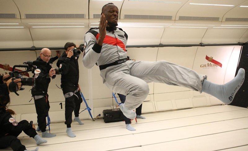 Усэйн Болт принял участие в забеге в условиях невесомости бег, гравитация, забег, интересное, невесомость, спорт, усэйн болт