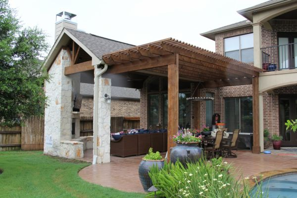 outdoor patio living Patio Covers, Outdoor Kitchens, Fire Features in Katy, TX
