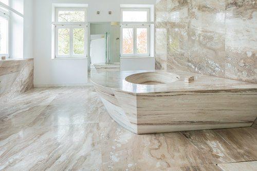 marble vs porcelain tile flooring