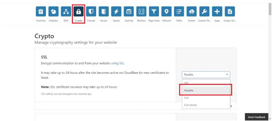 request cloudflare flexible ssl certificate for wordpress