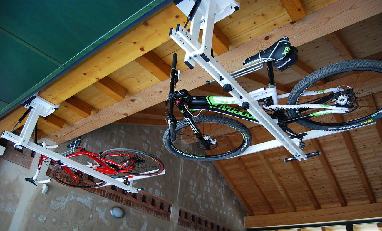 ceiling overhead bike rack for mountain