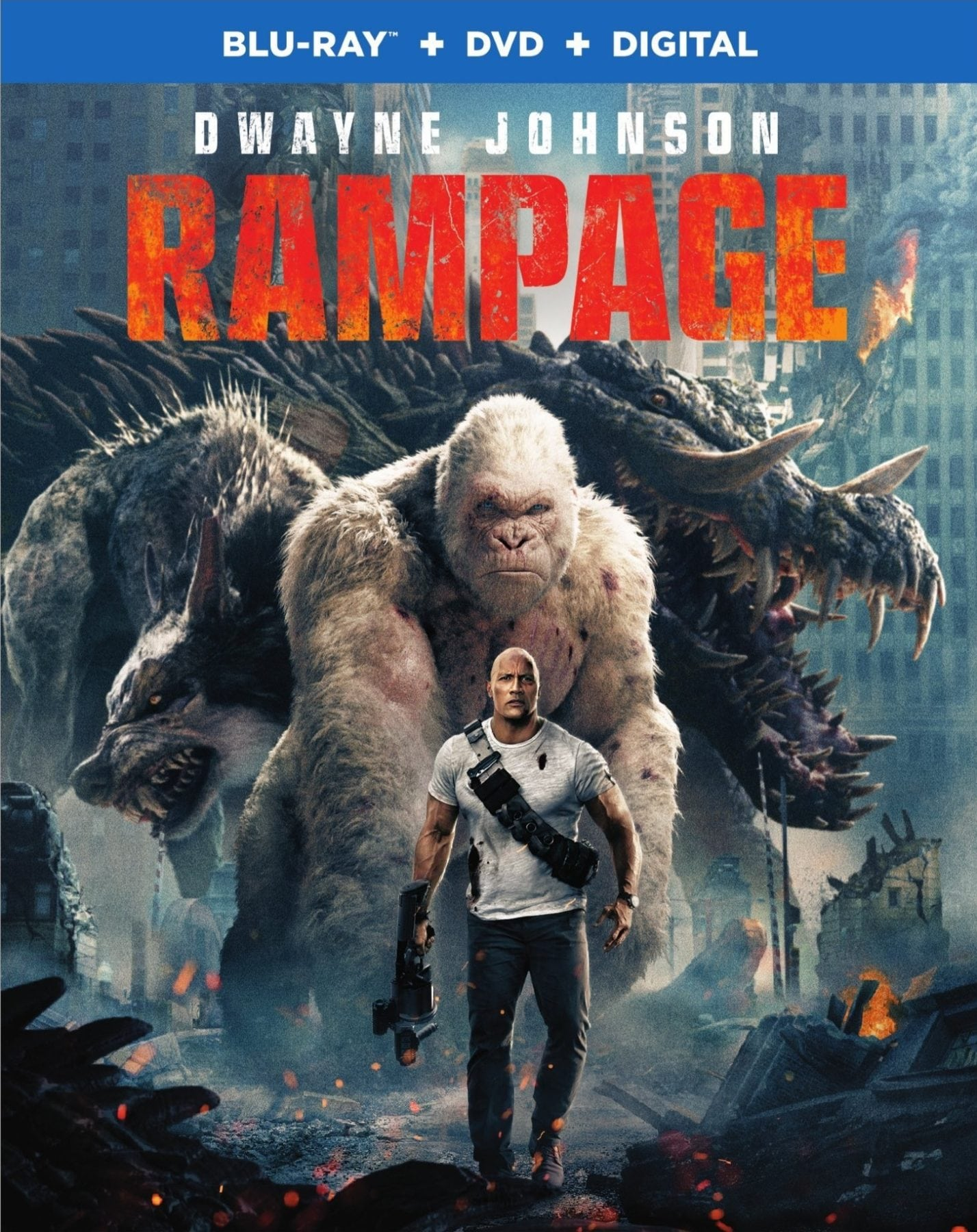 Blu Ray Review Rampage 2018