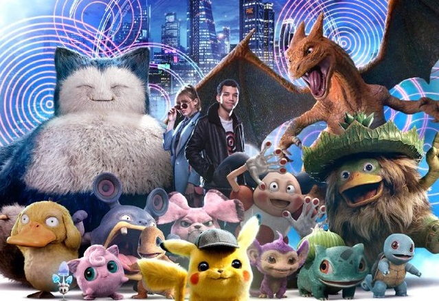 Pokemon Assemble On New Detective Pikachu Posters Flickering Myth