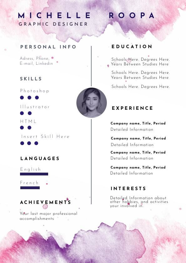 Pastel Watercolor Resume Template Amp Design Flipsnack