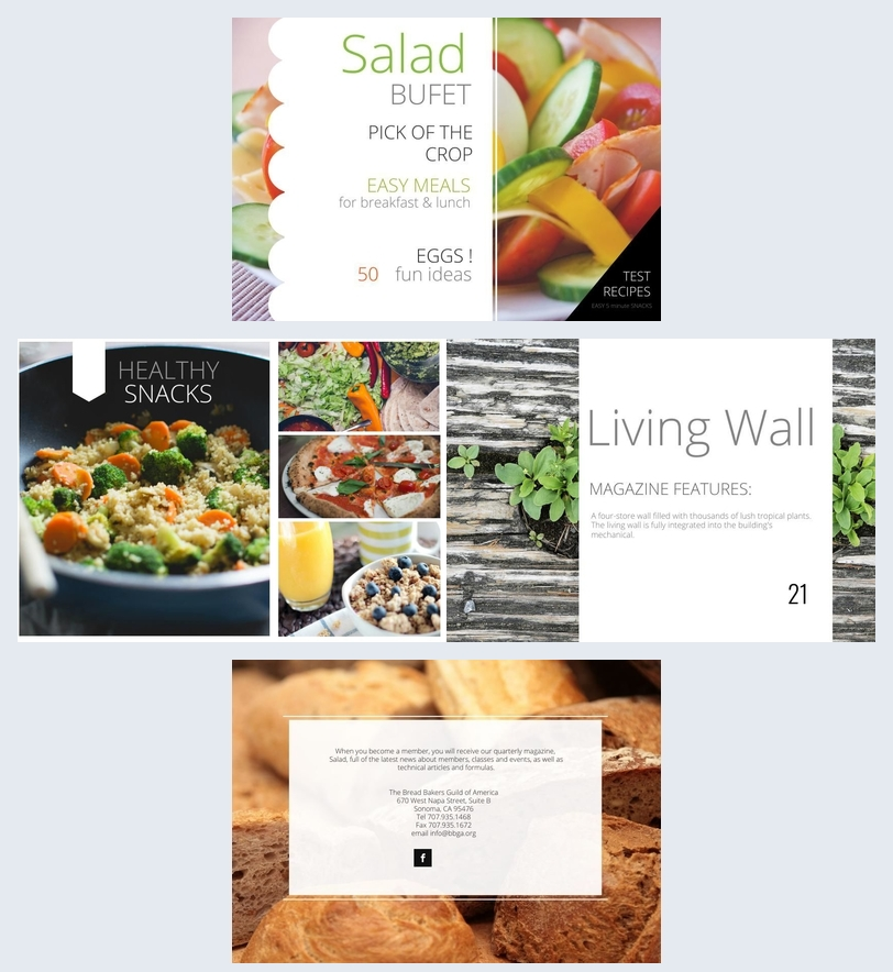 Salad Recipe Book Template Amp Design Flipsnack